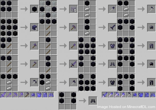 0ced0  Obsidian Tools Mod Recipe 640x451 Obsidian Tools Mod for Minecraft 1.2.5