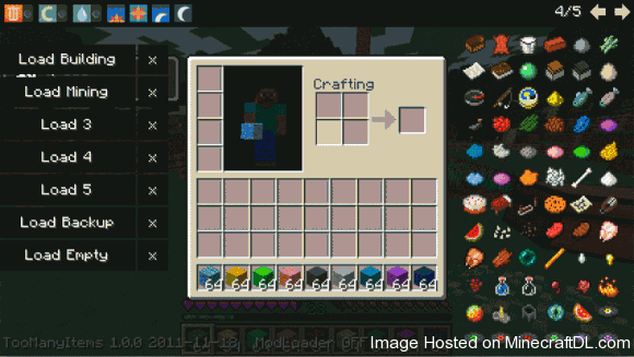 49d46  Too Many Items Mod 1 0 580x327 Too Many Items Mod for Minecraft 1.3.2