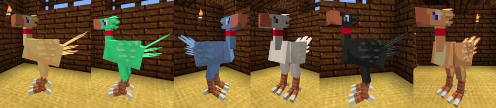 4e5bc  chocobo colours ChocoCraft Screenshots