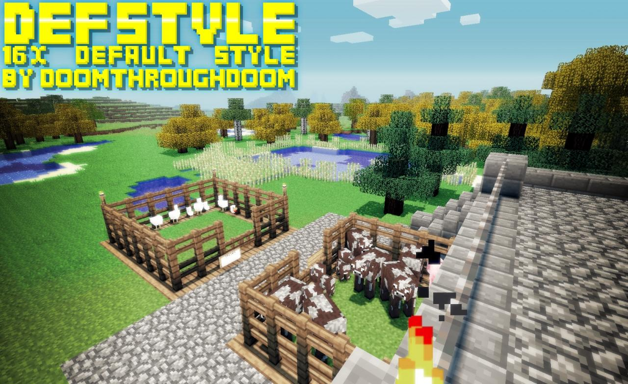 70fc8  Defstyle texture pack [1.5.2/1.5.1] [16x] DefStyle Texture Pack Download