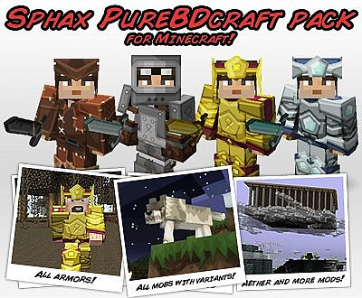 1784e  Sphax [1.7.2/1.6.4] [128x] Sphax PureBDCraft Texture Pack Download