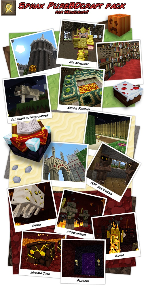 39efb  Sphax 2 [1.5.2/1.5.1] [64x] Sphax PureBDCraft Texture Pack Download