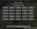 Note Block Selection GUI Mod for Minecraft 1.4.5