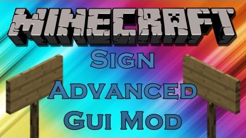 da888  Sign Advanced GUI Mod Sign Advanced GUI Mod for Minecraft 1.4.2
