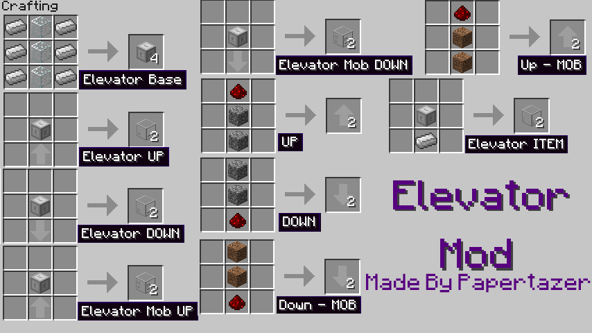 3cc71  Elevator Mod 2 Elevator Mod for Minecraft 1.4.7/1.4.6/1.4.5