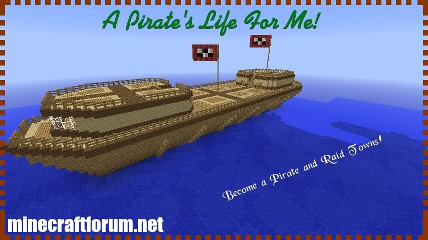 6356d  A Pirates Life For Me Map 3 A Pirates Life For Me Map for Minecraft 1.4.5