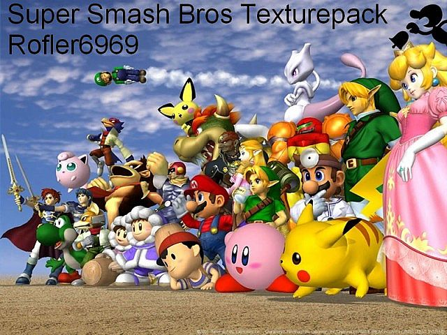 998bd  Super smash bros texture pack [1.5.2/1.5.1] [16x] Super Smash Bros Texture Pack Download