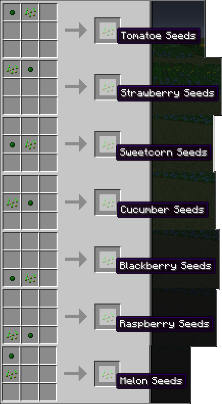 47573  normalseed recipes Magical Crops Mod Recipes
