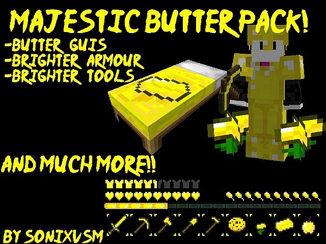 50506  Majestic butter texture pack [1.4.7/1.4.6] [16x] Majestic Butter Texture Pack Download