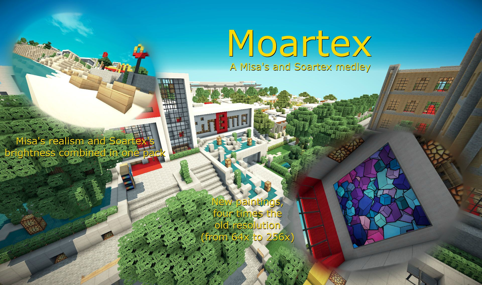 6ffe8  Moartex texture pack [1.7.2/1.6.4] [64x] Moartex Texture Pack Download