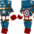 Captain America Skin for Minecraft