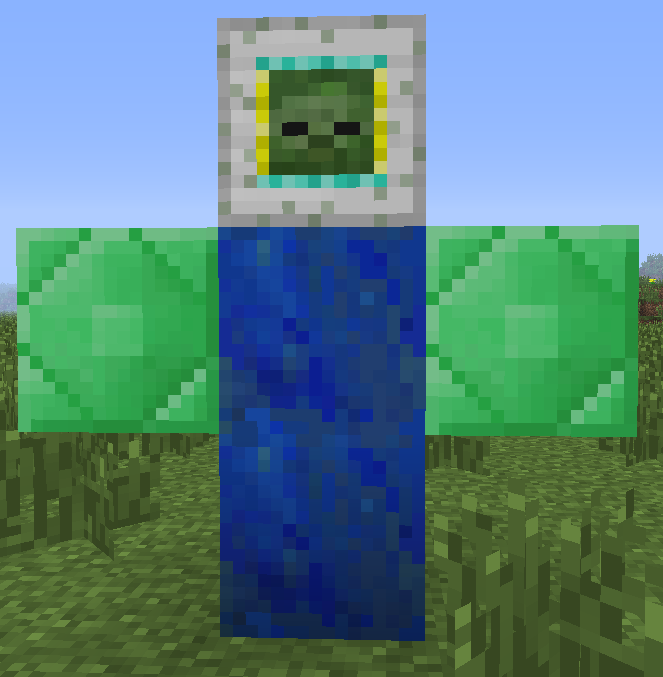 how to get a zombie head in minecraft