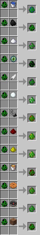 Elemental Creepers Mod Recipes
