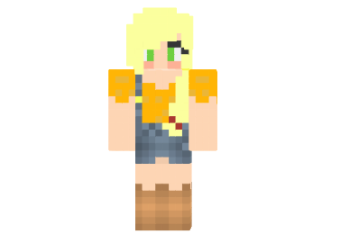 27abe  Applejack girl skin Applejack Girl Skin for Minecraft
