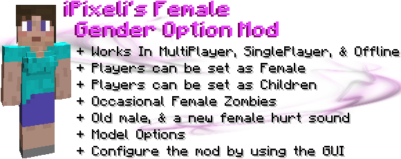 6a16f  Female Gender Option Mod [1.6.4] Female Gender Option Mod Download