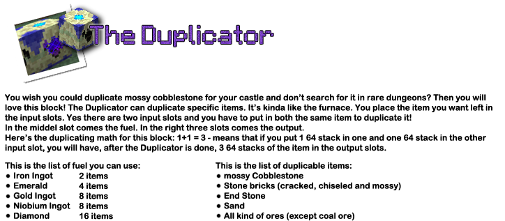 9454b  12 duplicator [1.5] EnderStuff Plus Mod Download