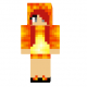Charmander Girl Skin for Minecraft