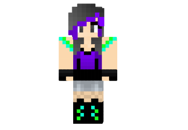 a8902  Emo or rave girl skin Emo or Rave Girl Skin para Minecraft