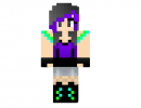 Emo or Rave Girl Skin for Minecraft