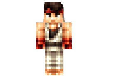 df053  Original ryu hd skin Original Ryu HD Skin for Minecraft
