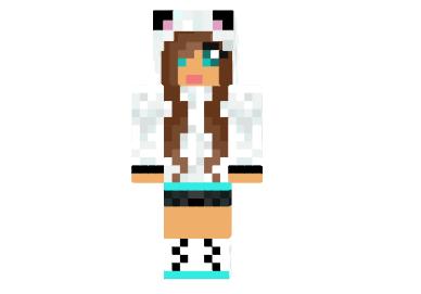 2cc31  Cute panda girl skin Cute Panda Girl Skin for Minecraft