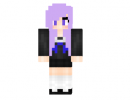 Purple Anime Girl Skin for Minecraft