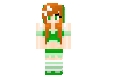 d2a9c  Leprechaun girl mystical skin Leprechaun Girl Skin para Minecraft