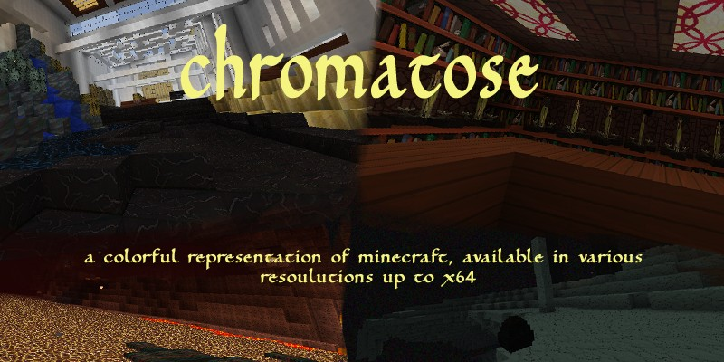 d54ad  Srds chromatose texture pack 1 [1.9.4/1.8.9] [64x] SRD's Chromatose Texture Pack Download