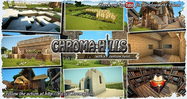 12633  Chroma hills rpg texture pack [1.7.2/1.6.4] [64x] Chroma Hills RPG Texture Pack Download