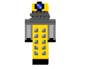 0e72f  Yellow dalek skin1 130x100 [1.11.2] Flat Colored Blocks Mod Download