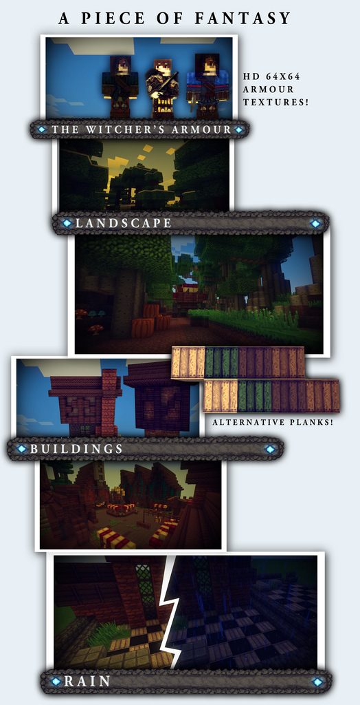 0c795  A piece of fantasy texture pack 1 [1.7.2/1.6.4] [32x] A Piece of Fantasy – RPG Texture Pack Download