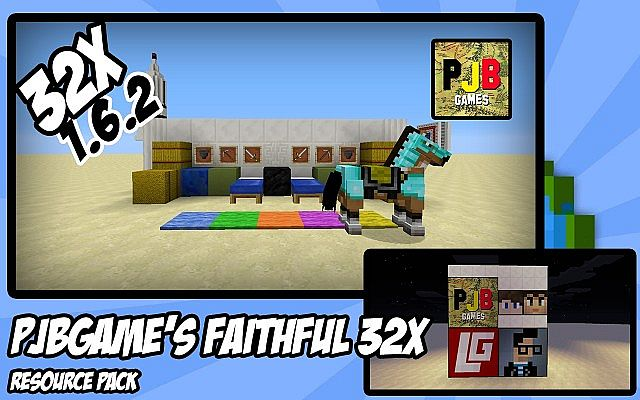 00c07  Pjbgames faithful resource pack [1.7.2/1.6.4] [32x] PJBGames' Faithful Resource Pack Download