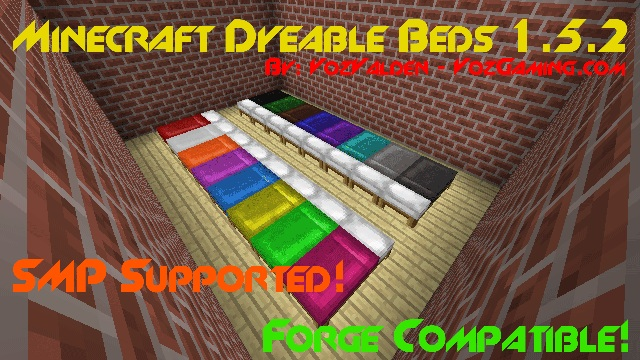 a18ea  Dyeable Beds Mod 1 [1.6.2] Dyeable Beds Mod Download