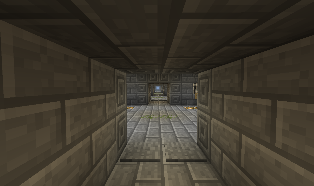 Infinite Creeper Maze Map