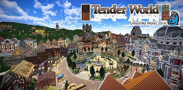 425ba  Tender world resource pack [1.7.10/1.6.4] [32x] Tender World Texture Pack Download
