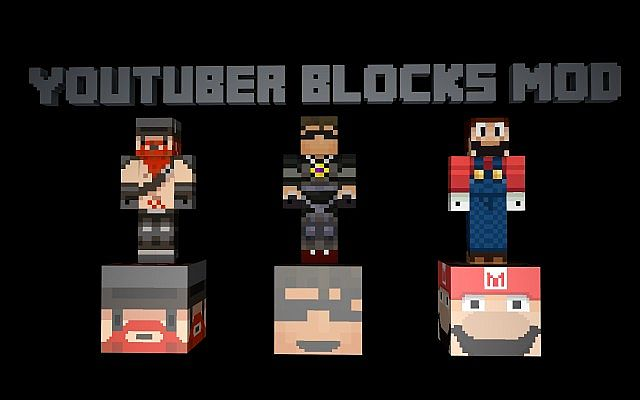 0a644  Youtuber Blocks Mod 1 [1.7.10] Youtuber Blocks Mod Download