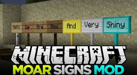 3068a  MoarSigns Mod [1.9.4] MoarSigns Mod Download