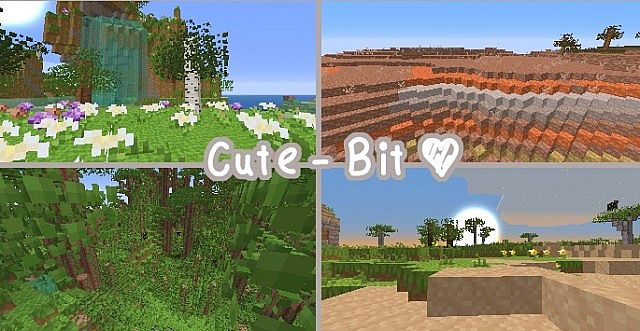 ebe53  Cute bit resource pack [1.7.10/1.6.4] [8x] Cute – Bit Texture Pack Download