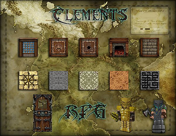 85b8b  Elements resource pack [1.7.10/1.6.4] [64x] Elements Texture Pack Download