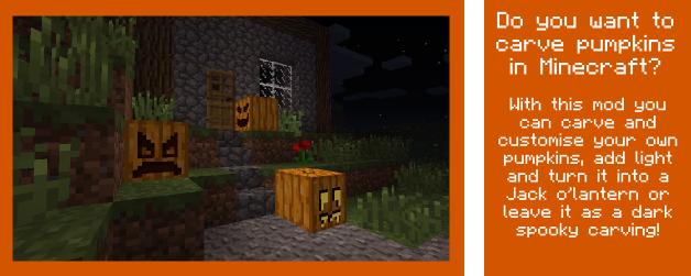 097d5  Carvable Pumpkins Mod 1 [1.7.10] Carvable Pumpkins (Halloween) Mod Download