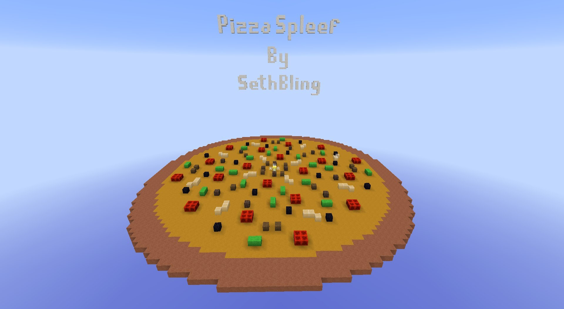0133d  Pizza Spleef Minigame Map 1 [1.8] Pizza Spleef Minigame Map Download