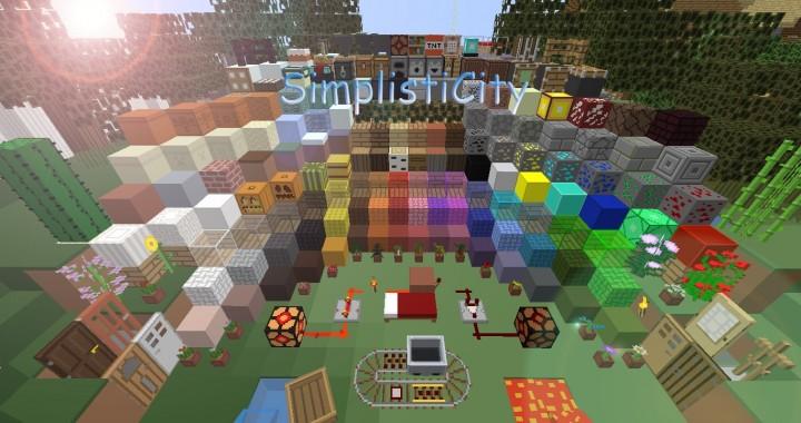 90a41  Simplisticity resource pack 1 [1.9.4/1.8.9] [16x] SimplistiCity Texture Pack Download