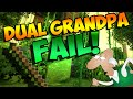 DUAL GRANDPA... FAIL! Minecraft Hunger Games Gameplay