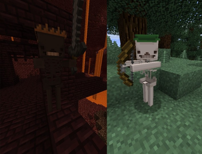 skeletons8993102 [1.9.4/1.8.9] [32x] Blocky Mobs Texture Pack Download