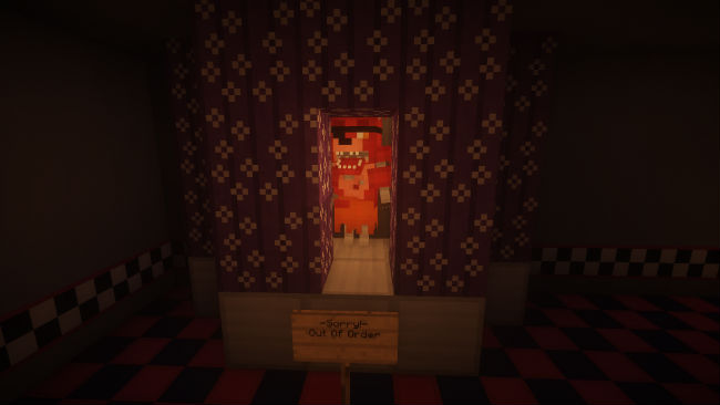 4ee15  Five nights at freddys with 3d models map 3 [1.8] Five Nights At Freddy's with 3D Models Map Download
