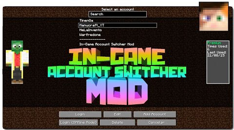 a0e92  Ingame Account Switcher Mod [1.8.9] Ingame Account Switcher Mod Download
