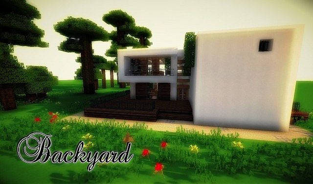 1 8 beautiful modern house map download minecraft forum for Minecraft modern house download 1 8
