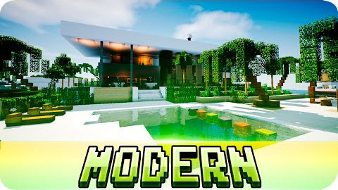 45bf9  yourminecraft Beautiful Modern House Map [1.8] Beautiful Modern House Map Download