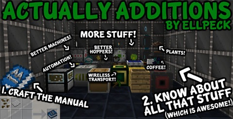 08acb  Actually Additions Mod [1.10.2] Actually Additions Mod Download