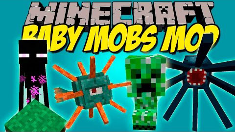 56643  Baby Mobs Mod [1.9.4] Baby Mobs Mod Download